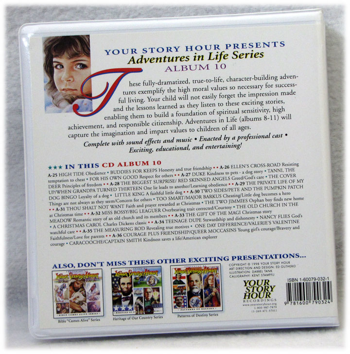 Your Story Hour Adventures in Life Series Album 9 Audio CD - Preowned